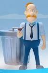 Inspector Gadget Mega Hero Actionfigur 1/12 Quimby 13 cm