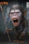 Planet der Affen: Revolution Deform Real Series Soft Vinyl Statue Caesar Warrior Face LTD 15 cm Weltweit auf 499 Stück limitiert