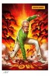 Marvel Kunstdruck Stan Lee Excelsior! 46 x 61 cm - ungerahmt Weltweit limitiert auf 750 Stück!
