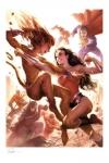 DC Comics Kunstdruck Justice League: Wonder Woman vs Cheetah 46 x 61 cm - ungerahmt Weltweit limitiert auf 400 Stück!