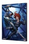 Black Widow Movie Holzdruck Black Widow vs Taskmaster 34 x 50 cm