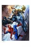 Marvel Kunstdruck Spider-Man vs Venom 46 x 61 cm - ungerahmt Weltweit limitiert auf 500 Stück!