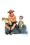 One Piece Ichibansho PVC Statue Portgas D. Ace & Otama Emorial Vignette 20 cm