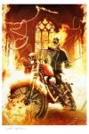 Marvel Kunstdruck Ghost Rider 46 x 61 cm - ungerahmt Weltweit limitiert auf 325 Stück!