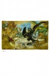 Drachenzähmen leicht gemacht Kunstdruck Ecto-1 46 x 61 cm - ungerahmt Weltweit limitiert auf 500 Stück!