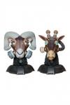 Unruly Designer Series Büsten Ram and Giraffe Guerilla Squadron Set by Freehand Profit 23 cm