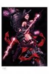 Marvel Comics Kunstdruck Psylocke 46 x 56 cm - ungerahmt   Weltweit limitiert auf 375 Stück!