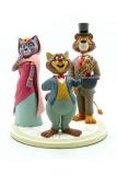 Um die Welt mit Willy Fog Statue Willy Fog, Rigodon, Prinzessin Romy & Tico 20 cm   Weltweit auf 180 Stück limitiert!