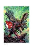 Marvel Kunstdruck Deadpool & Cable 46 x 61 cm - ungerahmt  Weltweit limitiert auf 500 Stück!