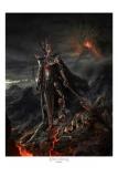 Herr der Ringe Kunstdruck Sauron Variant 61 x 81 cm Limitiert auf 2000 Stück!