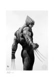 X-Men Kunstdruck Wolverine Black & White Variant 46 x 61 cm - ungerahmt   Weltweit limitiert auf 300 Stück!