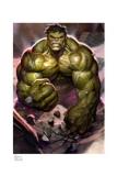 Marvel Kunstdruck The Incredible Hulk 46 x 61 cm - ungerahmt Weltweit limitiert auf 375 Stück!