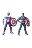 Marvel Legends Actionfiguren 2er-Pack 2022 Captain America: Sam Wilson & Steve Rogers 15 cm wenige bestelbar