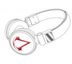 Assassin´s Creed III Gaming-Kopfhörer 3D Red/White
