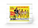 James Bond Holzdruck Doctor No Yellow 40 x 60 cm