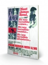 James Bond Holzdruck From Russia With Love One-sheet 40 x 60 cmv