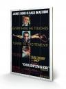 James Bond Holzdruck Goldfinger - Excitement 40 x 60 cm