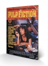 Pulp Fiction Holzdruck Cover 40 x 60 cm